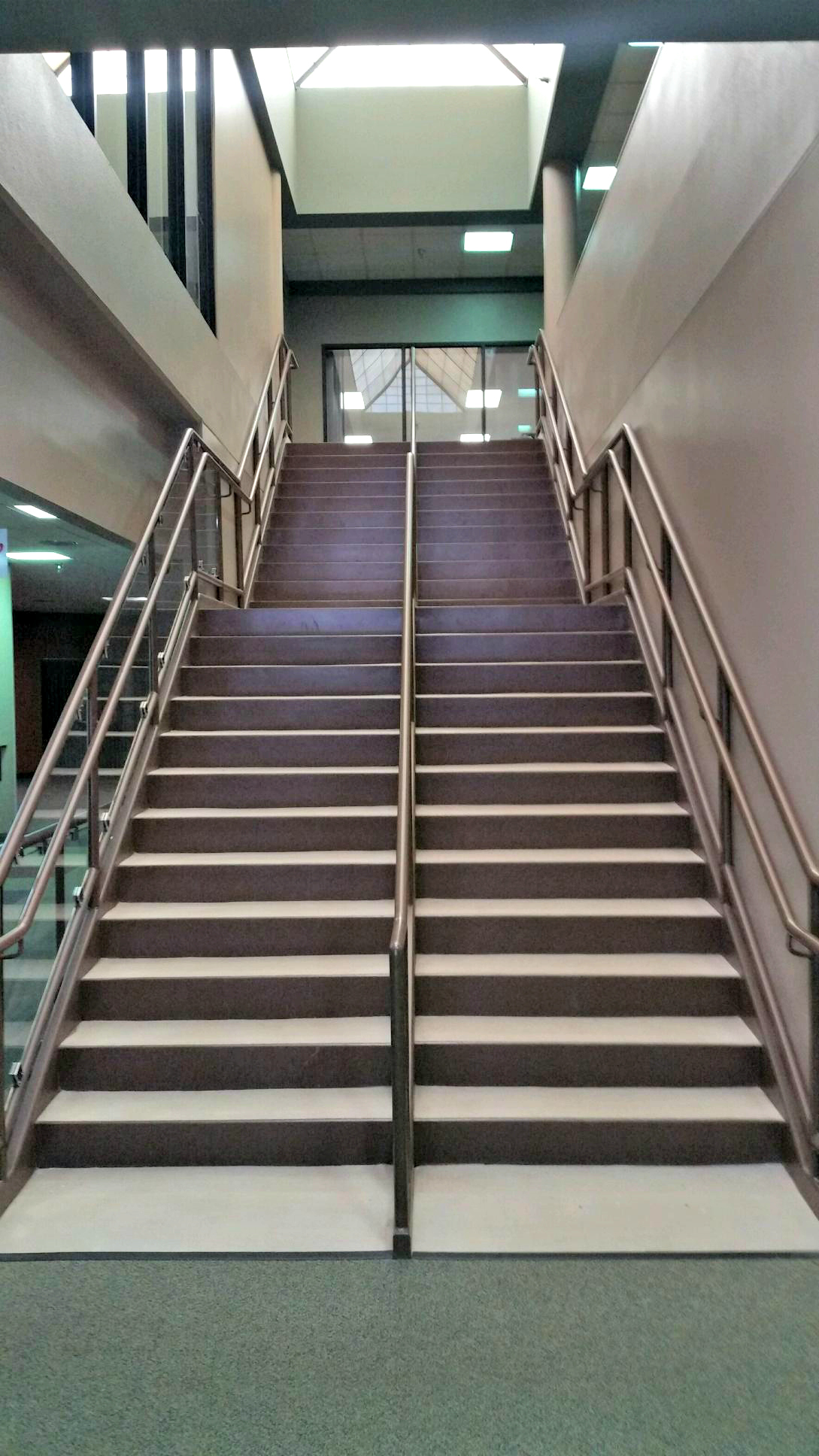 Accent Finishing painted the risers, hand rail, walls, and columns at the EastRidge Center