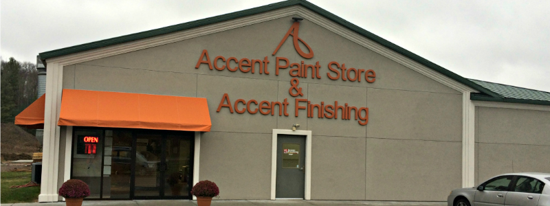 Accent Paint Store, located