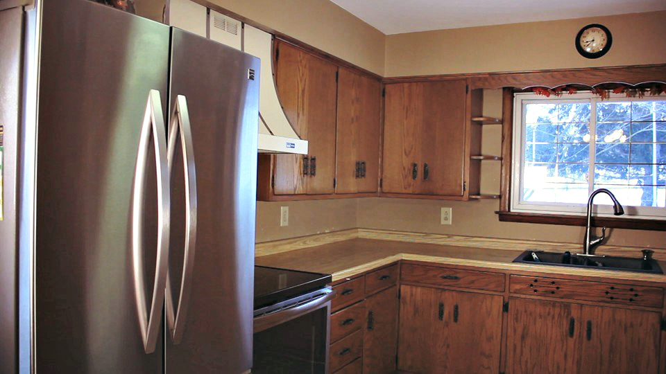 Before picture of kitchen remodeling project