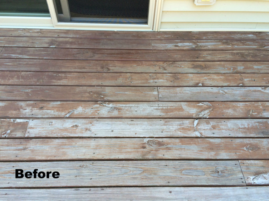 Deck before Flood Wood Care Stain